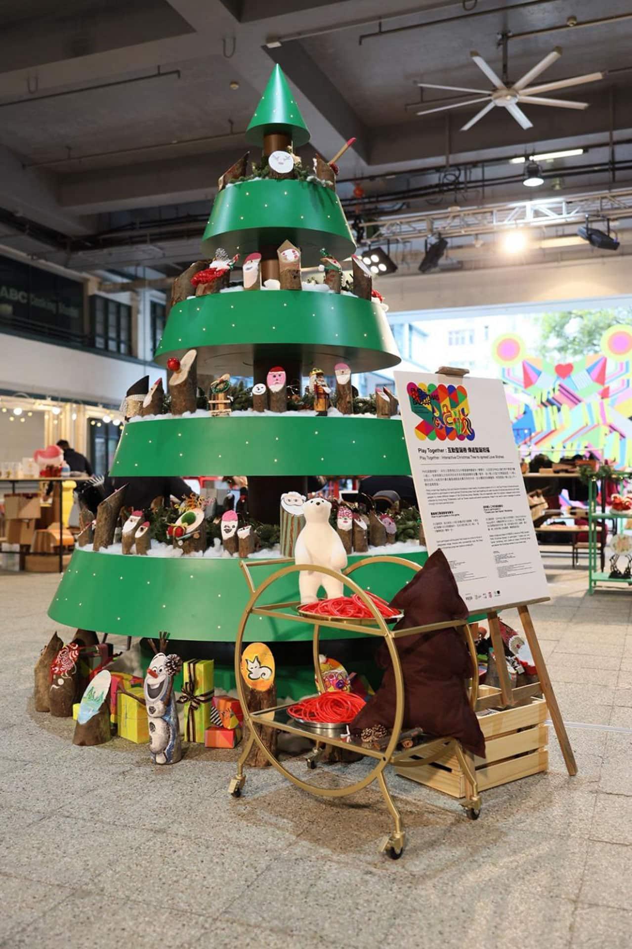 元創方PMQ Christmas Bazaar:Gather for Gifts of Love Play together互動聖誕樹