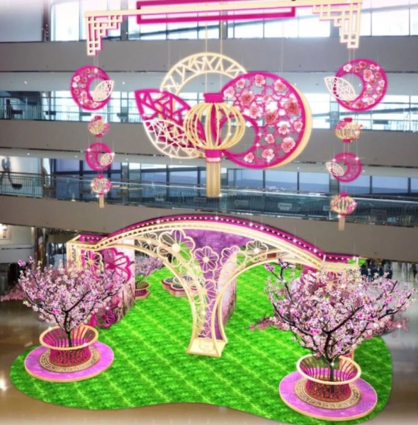 太古城中心:桃氣春日新春裝置