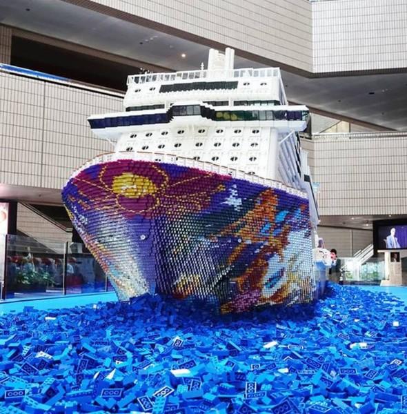 文化中心:世界夢號 LEGO 積木郵輪展覽