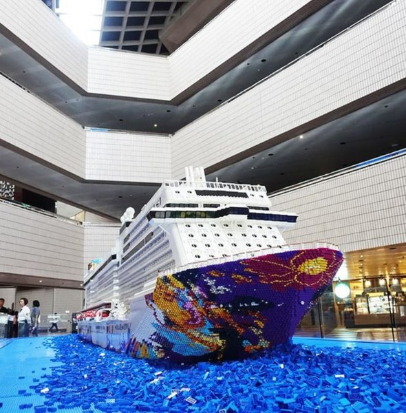 灣仔會展:世界夢號 LEGO 積木郵輪展覽