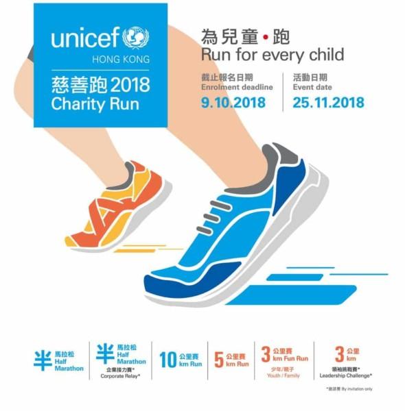 迪士尼樂園:UNICEF 慈善跑 2018