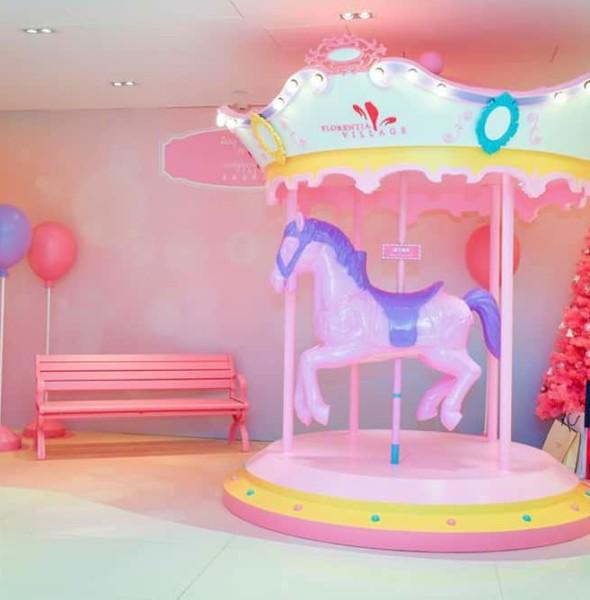 香港佛羅倫斯小鎮:紅粉聖誕