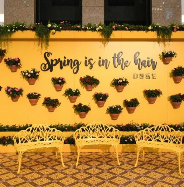時代廣場:「迎春簪花」展覽