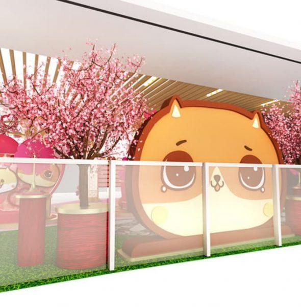 將軍澳中心:金犬癲噹遊樂園新年佈置